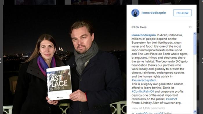 Leonardo Dicaprio Bicara Hutan Aceh Lewat Akun Instagram