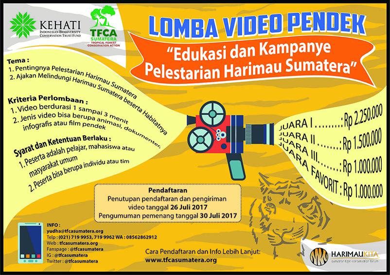 Lomba Video Pendek: Edukasi dan Kampanye Pelestarian Harimau Sumatera