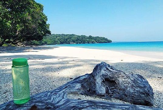 Pantai Cimayang di Taman Nasional Ujung Kulon. (commons.wikimedia.org)