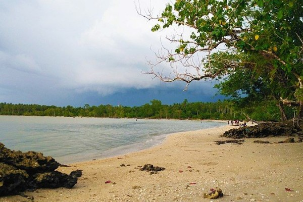 Pantai Cilintang di Taman Nasional Ujung Kulon. (commons.wikimedia.org)