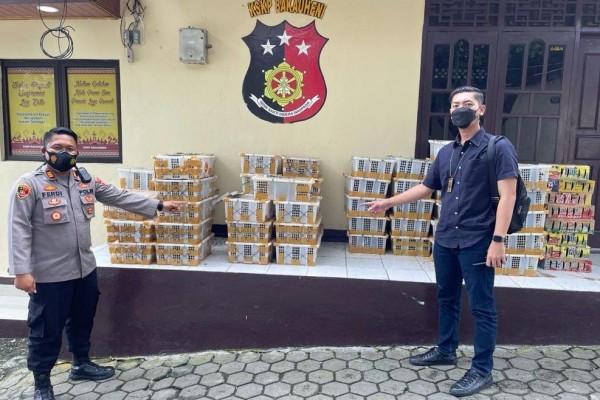 KSKP Bakauheni mengamankan puluhan box berisikan ribuan ekor burung di antaranya merupakan satwa liar (IDN Times/Istimewa)